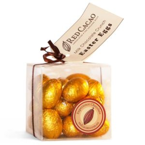 Premium milk crunch chocolate mini easter eggs in a box