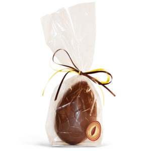 Medium size milk chocolate easter egg