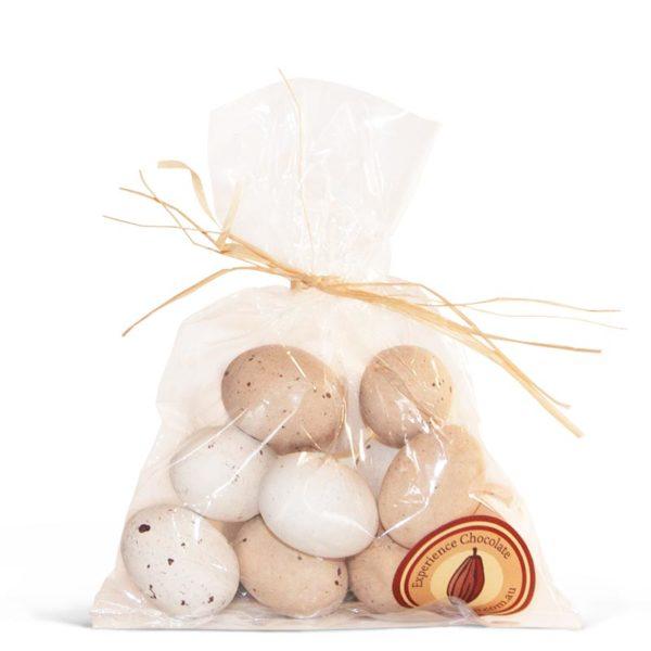 Small bag of hazelnut praline chocolate speckled Easter birds eggs