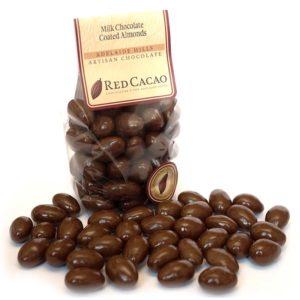 Milk chocolate coated roasted almonds