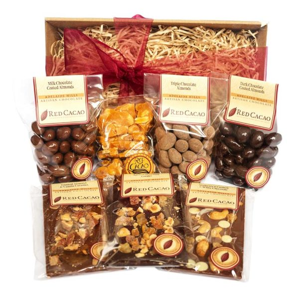A selection of Red Cacao's favourite nut chocolates