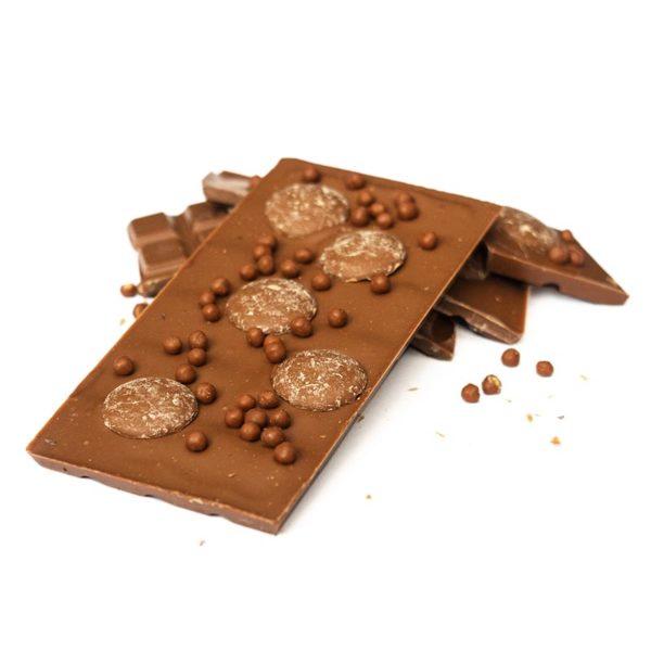 Salted caramel milk chocolate block