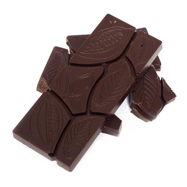 One hundred percent dark chocolate block