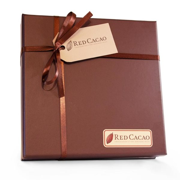 The unopened box of the sixteen piece truffle box