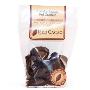 Australian apricots dipped in rich dark chocolate