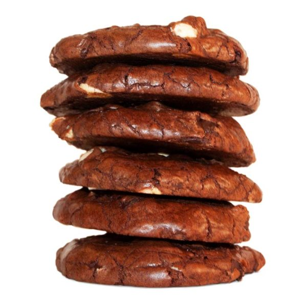 Six stack of double chocolate fudge cookie
