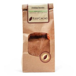 Bag of organic drinking chocolate for making your own hot chocolates at home