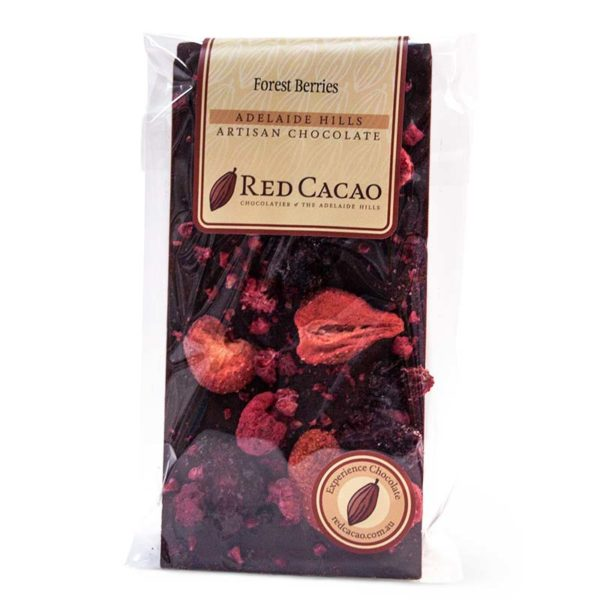 Forest berries flavoured chocolate block